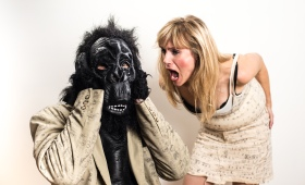 Eric Craig as Gorilla in Top Job & Colleen Sutton  as Tammy in Out of Gas Photo: Andrew Alexander