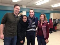 Steve, Lai, Cllr Mathieu Fleury & Catherine pose for the blurriest photo in history.